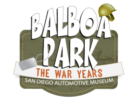 Balboa Park The War Years exhibit logo
